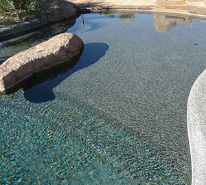 How plaster and pebbles affect your water temperature for Installing pool liner in cold weather